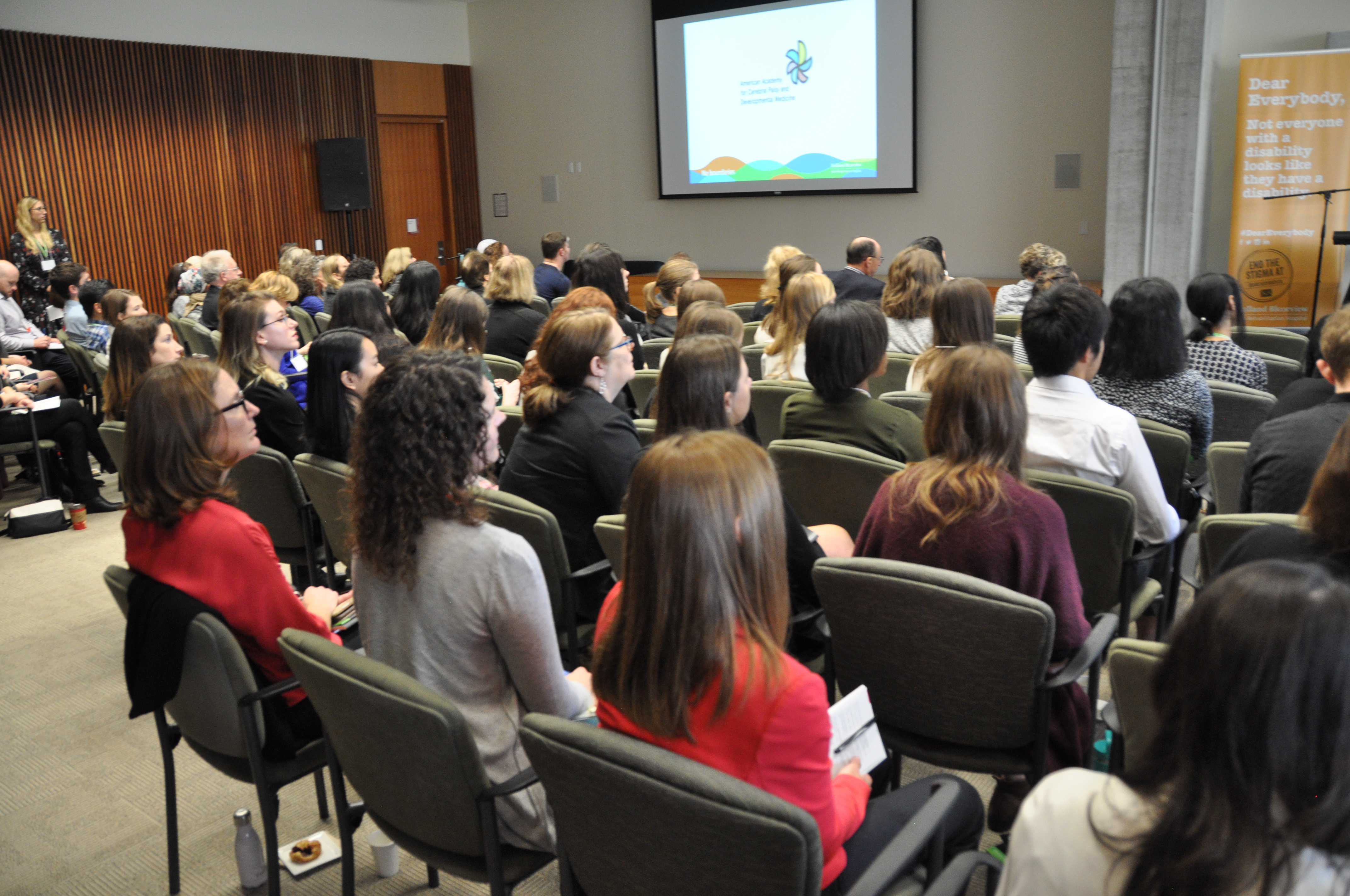 Audience captivated by engaging research talks