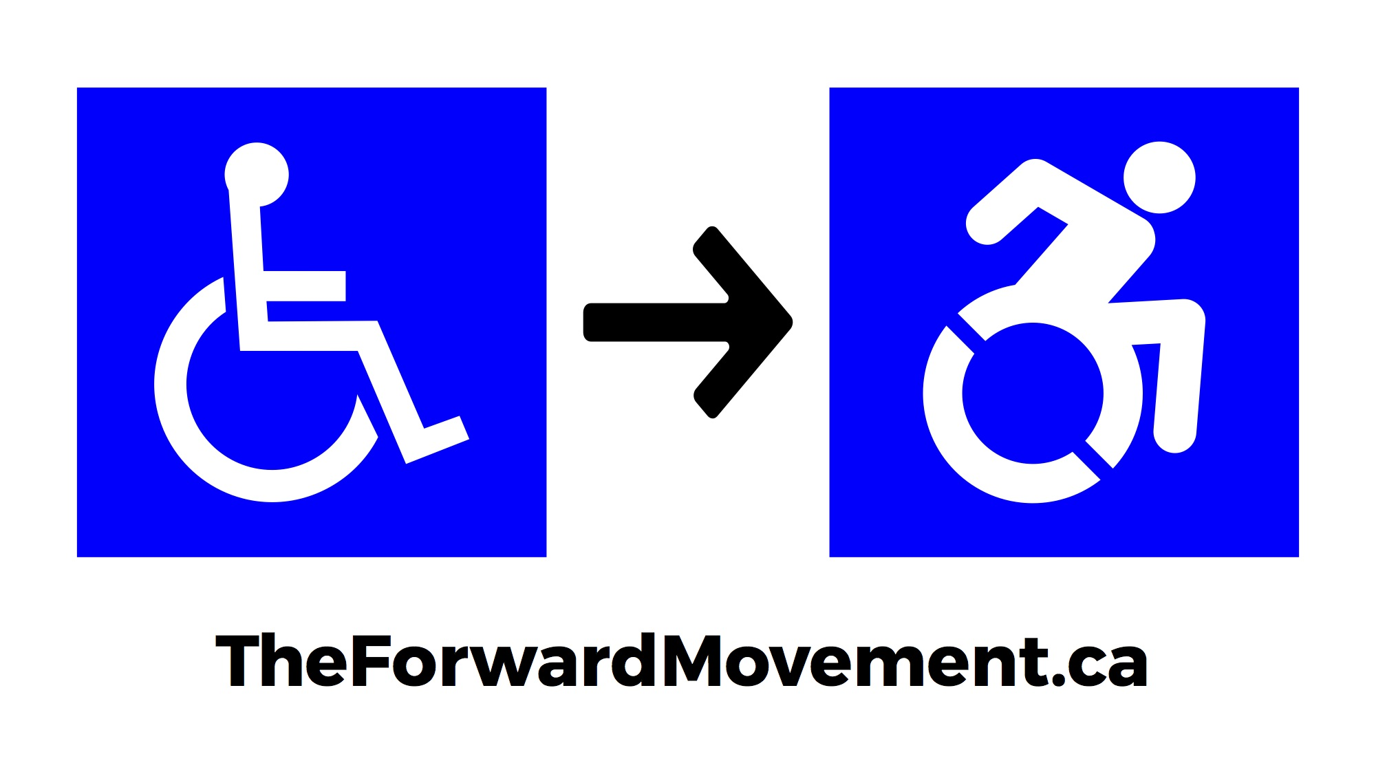 Fwdmvmt logog the forward movement is an accessibility advocacy and awareness campaign working to bring the dynamic symbol biocorpaavc Image collections