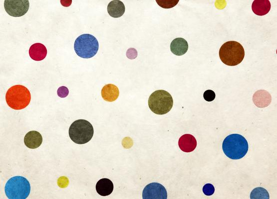 Abstract image of random dots