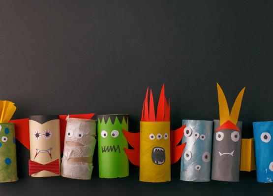 Photo of toilet roll monsters