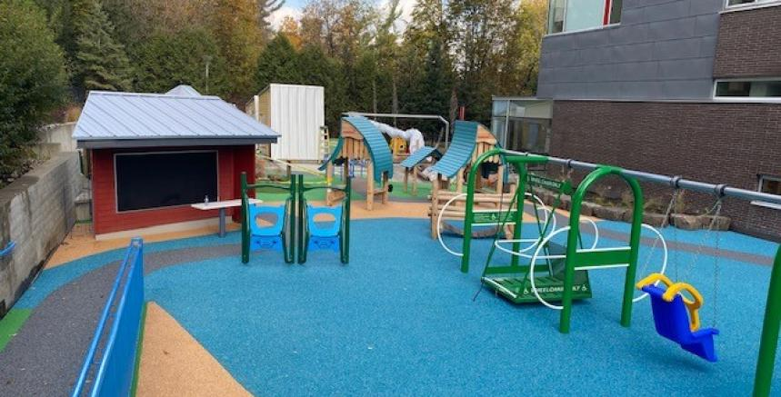 completed playground construction