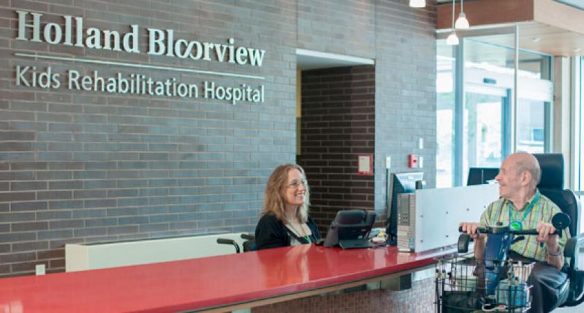 Main entrance welcome desk