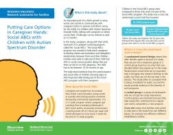 Putting Care Options in Caregiver Hands: Social ABCs with Children with Autism Spectrum Disorder