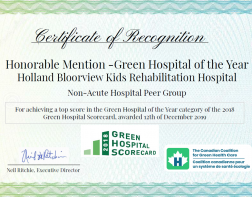 Honorable Mention -Green Hospital of the Year 2018
