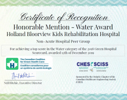 Honorable Mention - Water Award