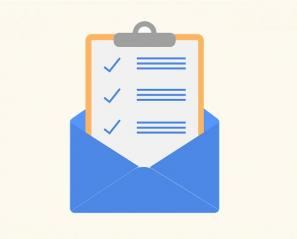 icon of a checklist in an email