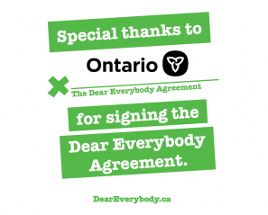 Ontario Government signing the DE agreement