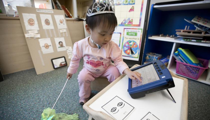 Alternative and augmentative communication tools are for children who have difficulty with speech