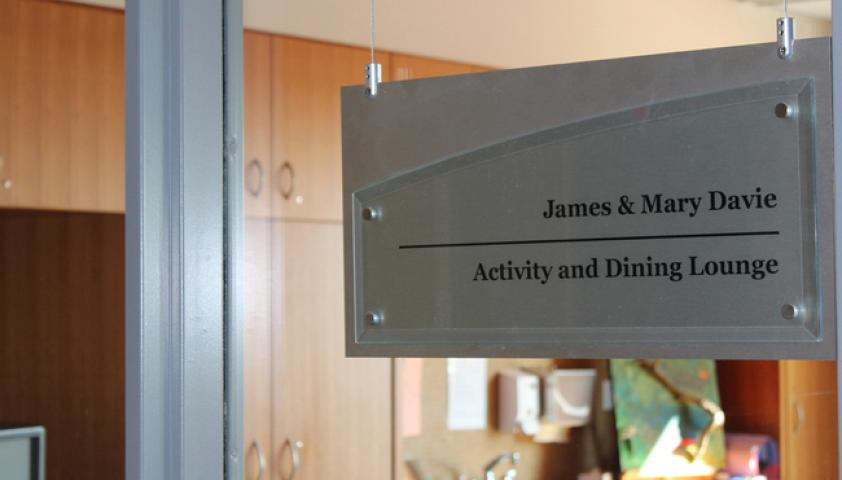 Activity and dining lounge in honour of James and Mary Davie
