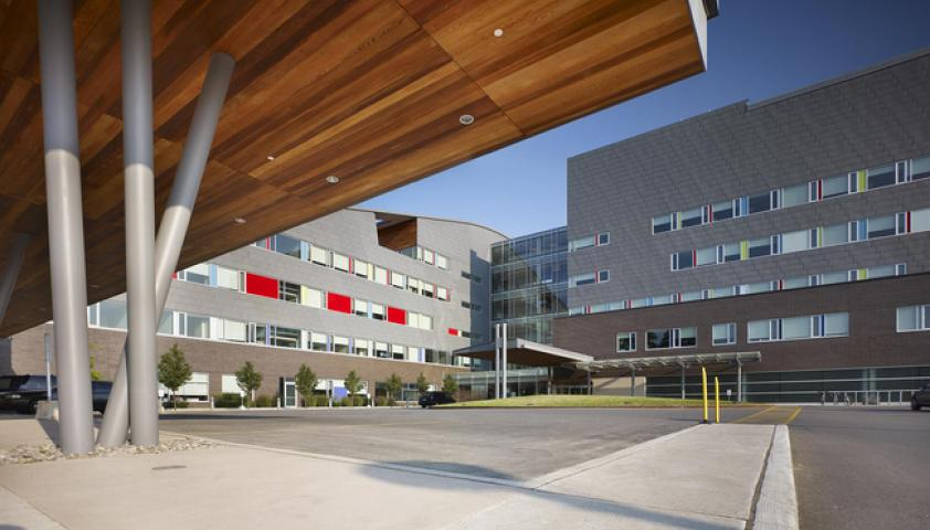 Drive up to the hospital - Holland Bloorview Kids Rehabilitation Hospital