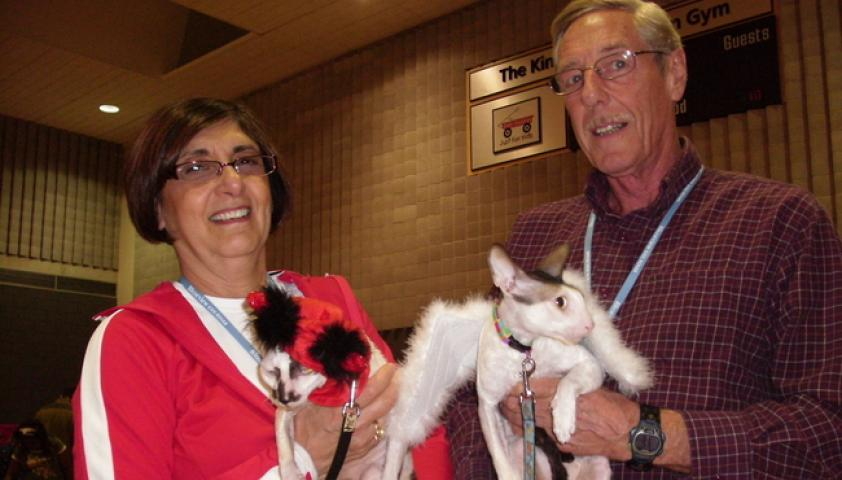 Rene and Peter have been volunteers in the pet program since 1995