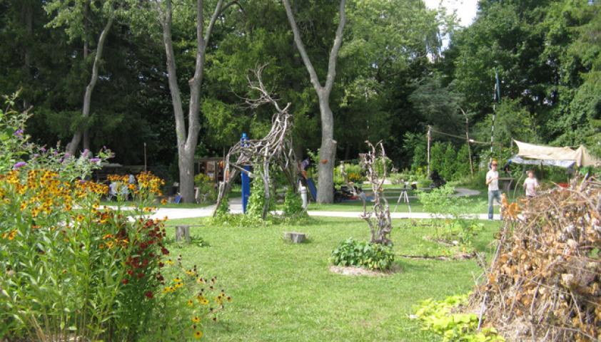 Spiral Garden is an integrated outdoor art, garden and play program that is run in the summer months
