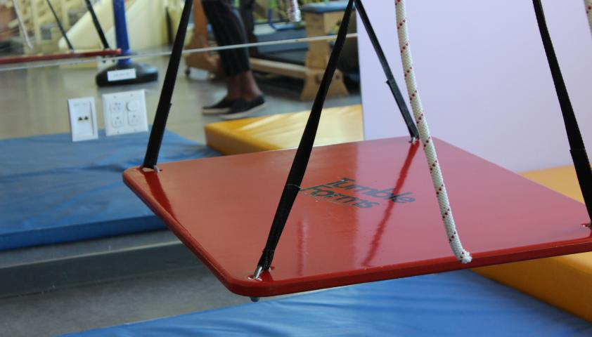 Stationary photo of the sensory swing.