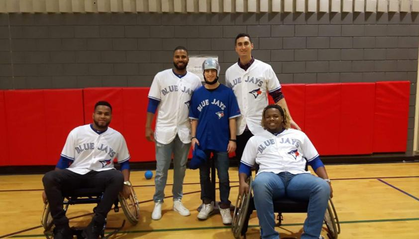 Jacob meeting the Toronto Blue Jays