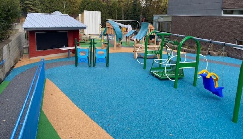 Completed accessible playground
