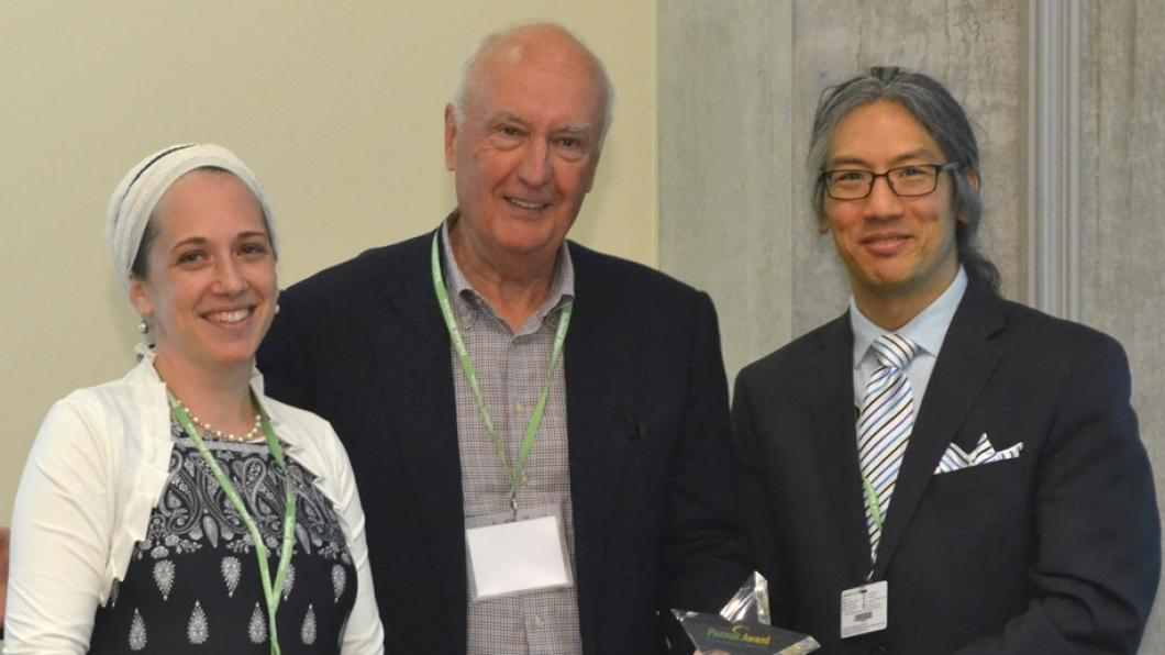 From left to right: Carmit Frisch, David Ward, Tom Chau (VP, Research)