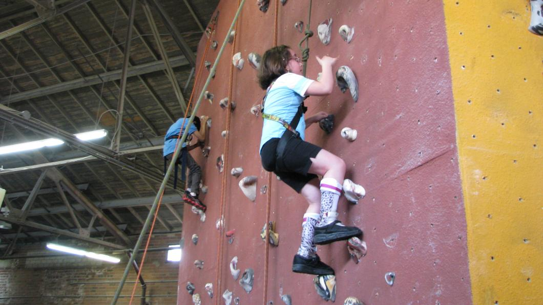 Rock climbing at SportFIT and Recreation Camp